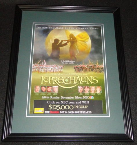 Magical Legend of the Leprechauns NBC 1999 Framed 11x14 ORIGINAL Advertisement