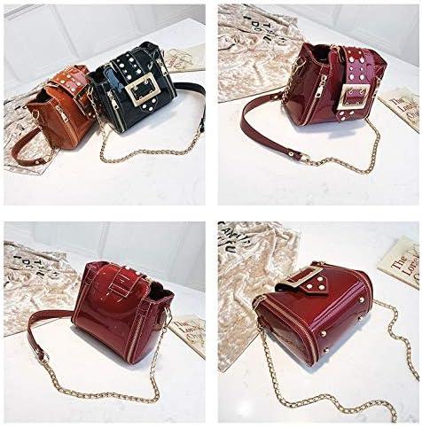 Lianlian Shoulder Bags Borsello in PU Casual in Pelle Fibbia in Metallo Tracolla Messenger Bag Borsa delle Signore (Nero) (Colore : Black) Black