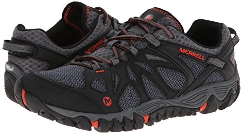 Merrell Men's All Out Blaze Aero Sport Hiking Water Shoe, Black/Red, 7.5 M US by Merrell (Image #6)