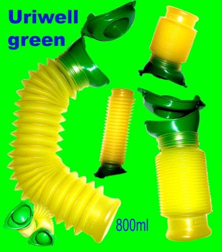2 Uriwell green 800ml Happy-Pi Mobilurinal Erwachsene Mobil Toilette für Autofahrer Rollstuhlfahrer Bettlägerige