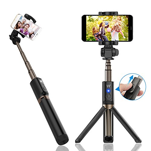 Selfie Stick, Jack & Rose Bluetooth Extendable Selfie Stick with Built-in Wireless Remote and Adjustable Tripod Stand for iPhone X/8/8 Plus/7/7 Plus/6 Plus/6s/Huawei/Galaxy/Google and More