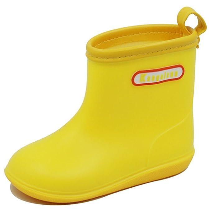 0f2fa7702 Niños Botas de Lluvia Zapatos de Goma - Unisex Impermeable Botas Wellington  Bebé Niños Antideslizante Chicos Chicas Pequeños Cómodo 1-6 Años