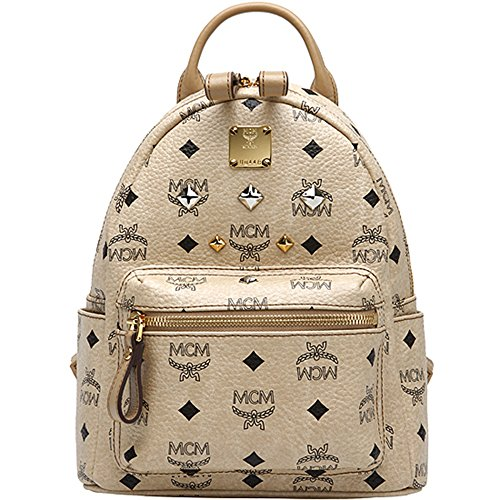 d419807d38a7f Authentic MCM Stark Visetos Backpack Mini Size Beige Color MMK2AVE27IG  Limited Last 1 piece - Buy Online in KSA. Apparel products in Saudi Arabia.