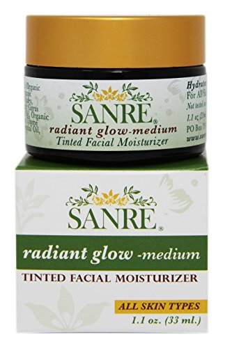 SanRe Organic Skinfood - Radiant Glow Medium - Organic Tinted Facial Moisturizer For All Skin Types by SanRe Organic Skinfood