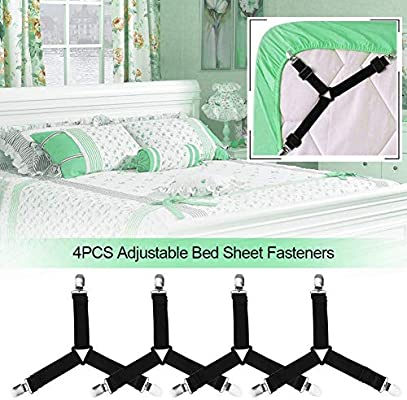 16PCS Bed Sheet Grip Straps for Bed or Sofa Corner Fastening