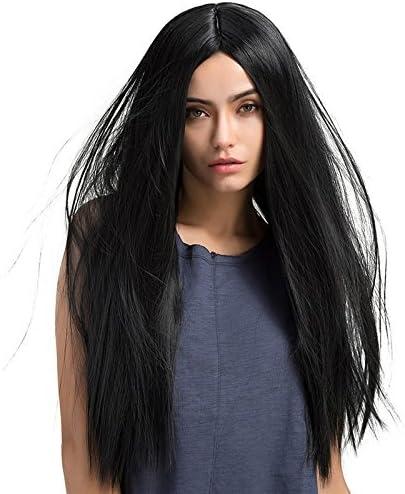 TopWigy Peluca recta larga Peluca negra Peluca de mamá Pelucas de cabello sintético para mujeres 26 pulgadas para fiesta diaria: Amazon.es: Belleza