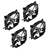 Barrow 120mm PWM RGB Fan for Radiators, Adjustable Lighting (LRC1.0 Compatible), Black, 4-pack
