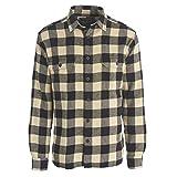 Woolrich Men's Oxbow Bend Flannel Shirt, Black Buffalo, Large