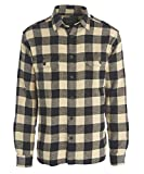 Woolrich Men's Oxbow Bend Flannel Shirt, Black Buffalo, Medium