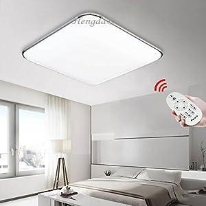 Hengda 64W LED Modern Dimmbar Deckenleuchte Wohnzimmer ...