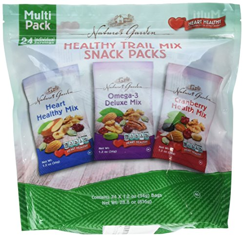 (Nature's Garden Healthy Trail Mix Snack Packs, Multi Pack 1.2 oz bags, Pack of 24 (Pack of 2))