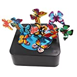 Bylion Magnetic Sculpture Desk Toy Stress Reliever Cool Gift Decoration for All Ages - Square Base and Colorful Butterflies