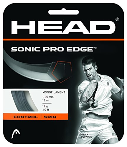 Pro Tennis String - HEAD Sonic Pro Edge Tennis String Set-16-Grey