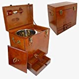 Q&Q 2591068 Leather Mini Bar Set