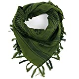 FREE SOLDIER Military Shemagh Tactical Desert Keffiyeh Scarf Wrap,Army green