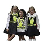 Salzmann High Visibility' reflective vest for children between 4~17 years old, High Viz reflective vest for Running, Cycling, Walking, Skating, Skiing, Skateboarding. Adjustable, lightweight, elastic Reflective Belt Vest/Reflective Running Vest/Cycling Vest/Safety Vest