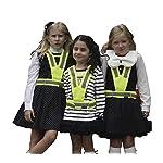 Salzmann High Visibility' reflective vest for children between 4~17 years old, High Viz reflective vest for Running, Cycling, Walking, Skating, Skiing, Skateboarding. Adjustable, lightweight, elastic Reflective Belt Vest/Reflective Running Vest/Cycling Vest/Safety Vest