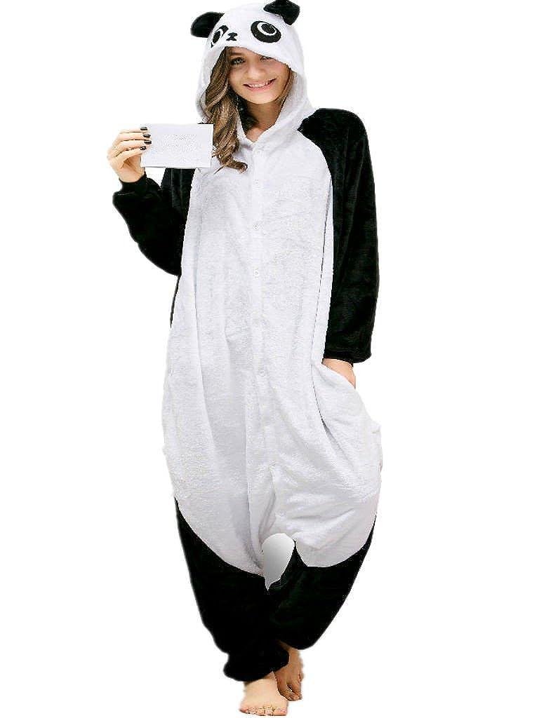 iSZEYU Adult Onesie Panda Bear Pajama for Women Cosplay Animal Halloween Costume CAXM