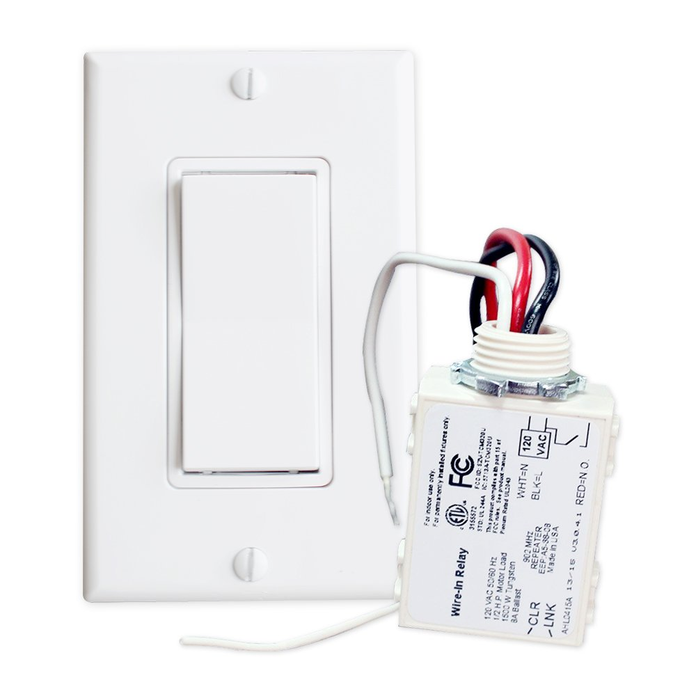 Runlesswire Simple Wireless Switch Kit Self Powered Rocker Fixture Wiring As Well A Light Wires Besides Electrical No Wire Control