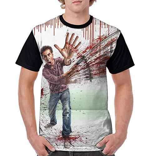 Shirt Fans Design Fashion Casual Custom for Mens Short Sleeve(L)