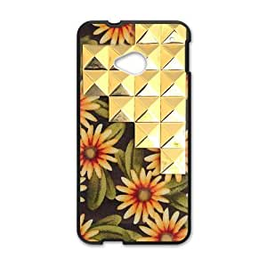 Canting_Good,Retro Floral Daisy, Custom Case for HTC One M7(Laser Technology)