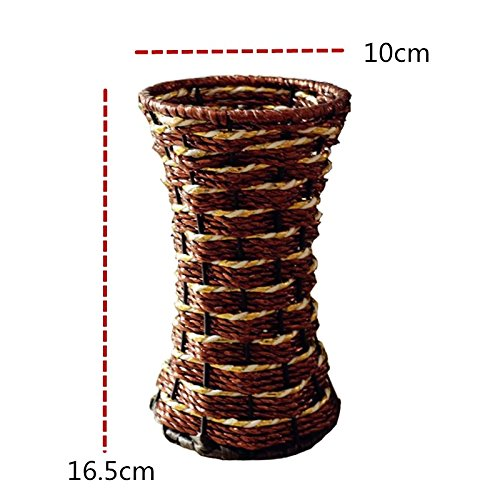 Walid- Vase Container Flower Basket Design Wrought Iron Frame Pastorale ( brown )