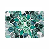 "KESS InHouse FM1054ABM02 Bath Mat Famenxt ""Mint Sognare"" Green Abstract Memory Foam Bath Mat, 24"" X 36"",,"