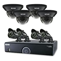 REVO America 16 Channel Home Surveillance Security System with 2TB Storage, 960H DVR, 8 100-Feet Night Vision Cameras for Indoor and Outdoor