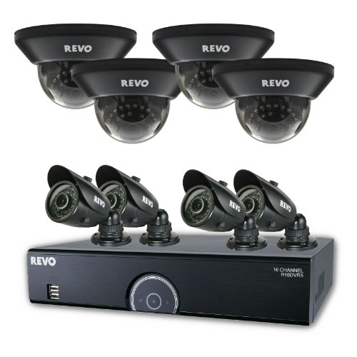 REVO America 16 Channel Home Surveillance Security System with 2TB Storage, 960H DVR, 8 100-Feet Night Vision Cameras for Indoor and Outdoor -  R165D4GB4G-2T