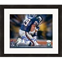 $143 Get Signed Mark Bavaro Picture - 8x10) #87 Super Bowl Touchdown JSA Matted & Framed - Autographed NFL Photos