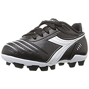 Diadora Kids' Cattura MD Jr Soccer Shoe, Black/White, 13.5 M US Little Kid