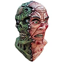 Siamese Nightmare Zombie Mask 2 Face Latex Blood Monster Adult Halloween Creepy