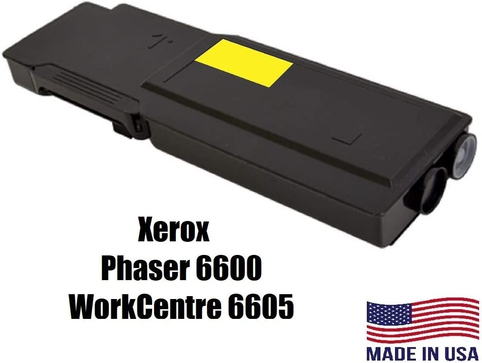 WorkCentre 6605 6K Yellow High Capacity Toner 106R02243 106R2243 AI Compatible Replacement for Xerox Phaser 6600
