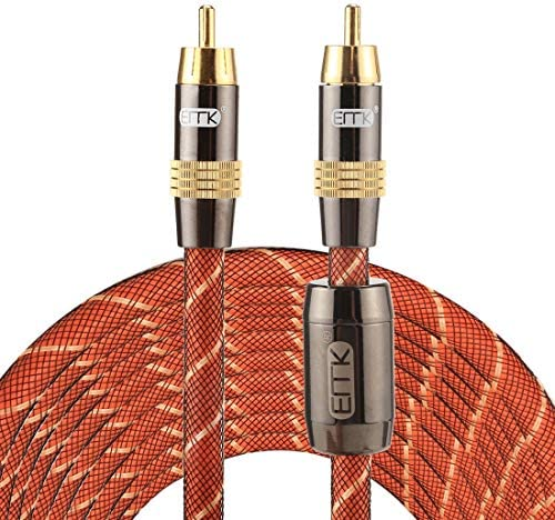 DIYオーディオおよびビデオケーブル用オーディオアダプターオーディオケーブル、小型、軽量、持ち運びが TZ/A 8メートルOD8.0mmゴールドメッキメタルヘッドRCA RCAプラグデジタル同軸接続ケーブルオーディオ/ビデオRCAケーブル、小型、軽量で持ち運びが簡単に