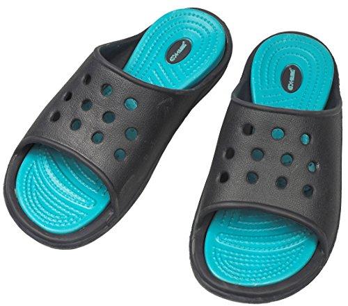 AQUA-SPEED CAPRI Damen Badelatschen | Strandschuhe | Badeschuhe | Badeschlappen | Schwimmbad Blau