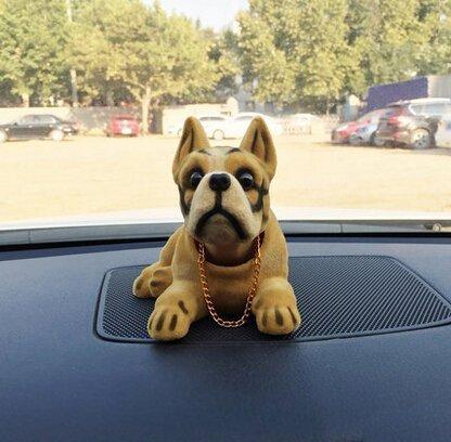 Shaking Head Lucky Dog Bobbing Heads Car Dash Puppy For Car Vehicle Decoration, Collie (16x9x11cm)
