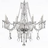 Cheap New Galaxy Lighting Crystal Chandelier 28ht X 28wd 8 Lights Chrome Finish Fixture Pendant Ceiling Lamp