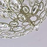 Modern Light Fixtures Ceiling 3-Lights Silver