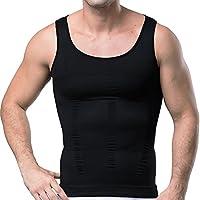GSKS Mens Body Shaper Undergarment Compression Shirt Elastic Vest Slimming Undershirt Slim Shapewear