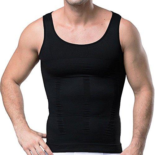 b1955b917f GSKS Mens Body Shaper Undergarment Compression Shirt Elastic Vest Slimming  Undershirt Slim Shapewear