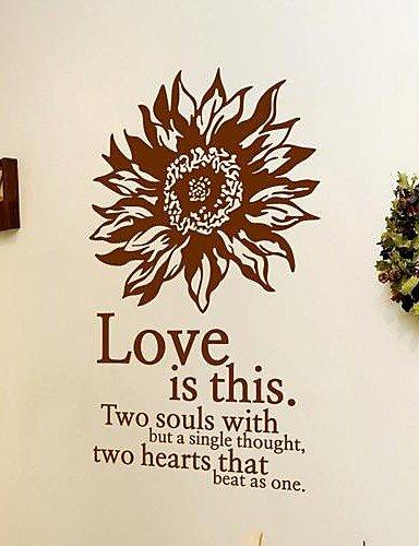 pegatinas de pared Tatuajes de pared, modernas girasol romántico ...