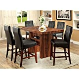 Cheap Furniture of America Kona 7-Piece Contemporary Pub Dining Set