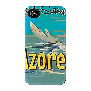 Azores Full Wrap High Quality 3D Printed Case for iPhone 4 / 4s by Nick Greenaway + FREE Crystal Clear Screen Protector