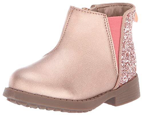 OshKosh B'Gosh Girls' Daria Chelsea Boot, Rose, 9 M US