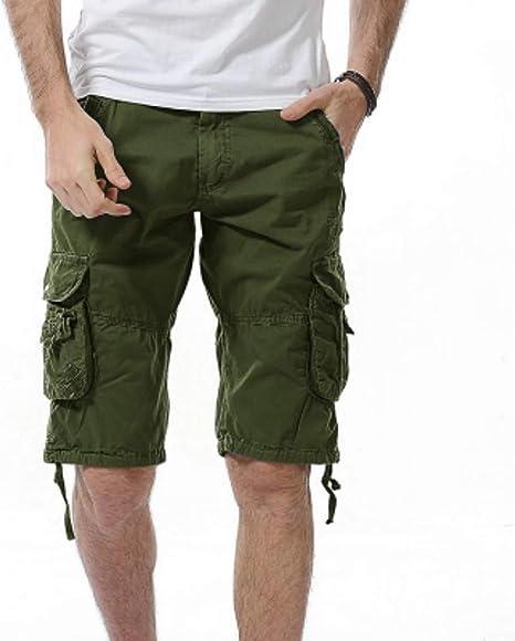 Pantalones Cortos Mens Shorts Carga Militar De Camuflaje del ...