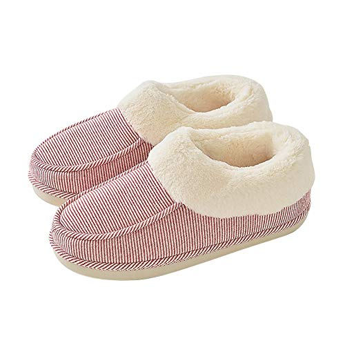 Breathable Td Washable Keep slip Autumn Coral Containing Shoes Warm Slippers Fleece Indoor Bored Bottom Non Winter Herringbone Not B Home Machine And Thick Cotton Female rqaxwOnvgr