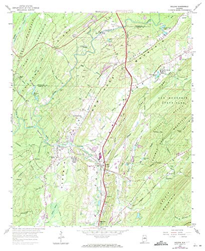 YellowMaps Helena AL topo map, 1:24000 Scale, 7.5 X 7.5 Minute, Historical, 1959, Updated 1971, 26.8 x 21.9 in - Paper ()