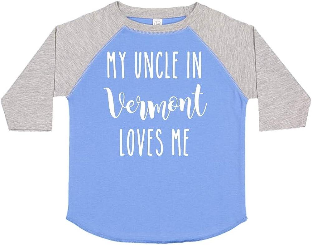 Toddler//Kids Raglan T-Shirt My Uncle in Vermont Loves Me