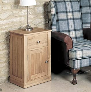 baumhaus mobel oak one door one drawer lamp table baumhaus wine rack lamp table