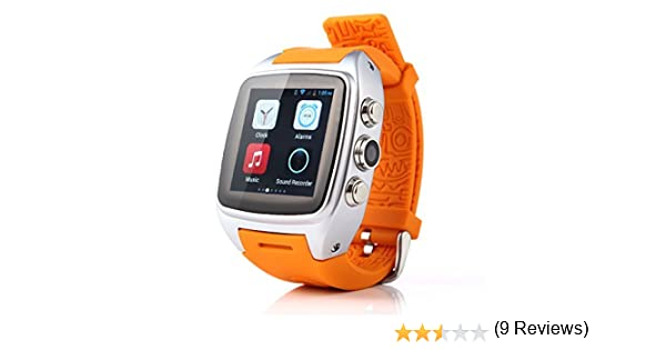 iMacwear M7 - Impermeable Smartwatch Smartphone Reloj Deportivo Android 3G (1.54 Pantalla Ips, SIM, Podometro, Pulsometro, GPS, Camara 5Mp), Naranja
